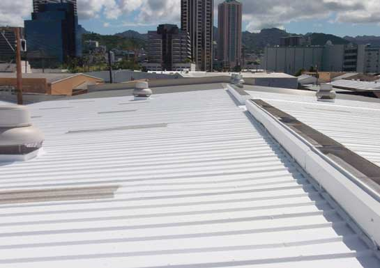 Metal roof recoating