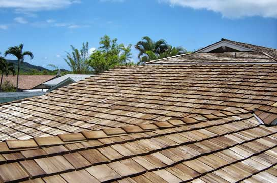Wood shake roofer in Hawaii